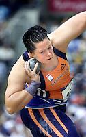 Atletiek Lieja Koeman bereikte woensdag in het Olympisch Stadion de finale bij het kogelstoten.