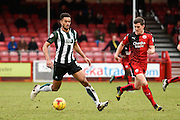 Plymouth defender Curtis Nelson during the Sky Bet League 2 match between Crawley Town and Plymouth Argyle at the Checkatrade.com Stadium, Crawley, England on 20 February 2016. Photo by David Charbit.