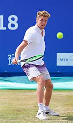 LIVERPOOL, ENGLAND - Saturday, June 23, 2018: Robert Kendrick (USA) during day three of the Williams BMW Liverpool International Tennis Tournament 2018 at Aigburth Cricket Club. (Pic by Paul Greenwood/Propaganda)