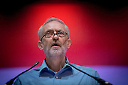 LABOUR LEADERSHIP CANDIDATE ADDRESSES  A PARTY MEETING IN ABERDEEN ..  PIC OF JEREMY CORBYN SPEAKING AT THE ARTS CENTRE IN ABERDEEN<br /> PIC DEREK IRONSIDE /  NEWSLINE MEDIA