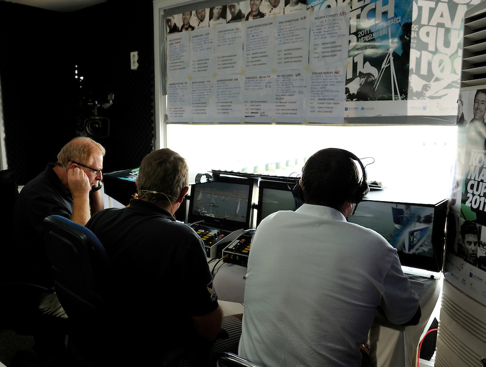 The commentary team at work. Photo:Chris Davies/WMRT