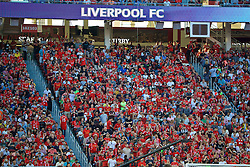 SANTA CLARA, USA - Saturday, July 30, 2016: Liverpool supporters during the International Champions Cup 2016 game against AC Milan on day ten of the club's USA Pre-season Tour at the Levi's Stadium. (Pic by David Rawcliffe/Propaganda)