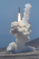 May 30, 2017. CA.  .A successful U.S. Missile Defense Agency flight.test of a Ground-based Interceptor missile was launch Tuesday. The missile was launch at around 12:30 PM and intercept and destroyed it's target by the 30th Space Wing, the Missile Defense Agency, and U.S. Northern Command, May 30, 2017. Vandenberg AFB. California..Photos by Gene Blevins/LA DailyNew/SCNG/ZumaPress. (Credit Image: © Gene Blevins via ZUMA Wire)