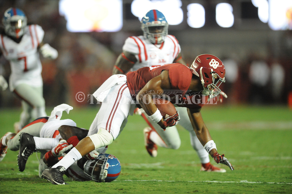 Ole Miss vs. Alabama Crimson Tide tight end O.J. Howard (88) at Bryant-Denny Stadium in Tuscaloosa, Ala. on Saturday, September 19, 2015. Ole Miss won 43-37.
