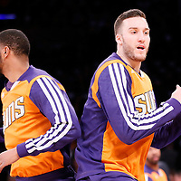 10 December 2013: Phoenix Suns center Miles Plumlee (22) is seen during the players introduction prior to the Phoenix Suns 114-108 victory over the Los Angeles Lakers at the Staples Center, Los Angeles, California, USA.