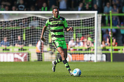 Forest Green Rovers Ethan Pinnock(16) on the ball during the Vanarama National League Play Off second leg match between Forest Green Rovers and Dagenham and Redbridge at the New Lawn, Forest Green, United Kingdom on 7 May 2017. Photo by Shane Healey.