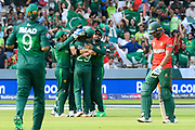 5 Wickets - Shaheen Afridi of Pakistan celebrates taking the wicket of Mohammad Mahmudullah Riyad of Bangladesh during the ICC Cricket World Cup 2019 match between Pakistan and Bangladesh at Lord's Cricket Ground, St John's Wood, United Kingdom on 5 July 2019.