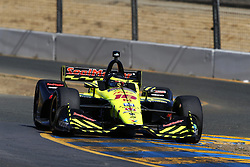September 14, 2018 - Sonoma, California, United Stated - SEBASTIEN BOURDAIS (18) of France takes to the track to practice for the Indycar Grand Prix of Sonoma at Sonoma Raceway in Sonoma, California. (Credit Image: © Justin R. Noe Asp Inc/ASP via ZUMA Wire)