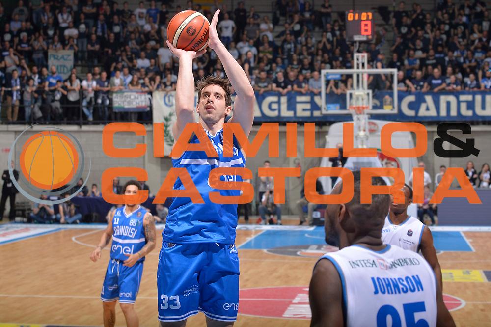 Giorgio Sgobba<br /> Mia Cantu - Enel New Basket Brindisi<br /> Lega Basket Serie A 2016/2017<br /> Desio, 19/03/2017<br /> Foto Ciamillo - Castoria