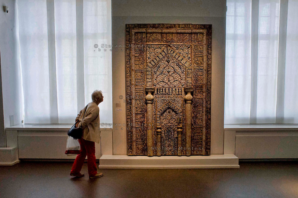 Berlin,  Museum Island<br /> Pergamon Museum, Prayer niche of the mosque in Maidan in Kashan, Iran (1226),<br />  Islamic Art Museum