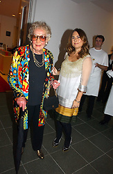 Left to right, BEATRICE MILLER former editor of Vogue and ALEXANDRA SHULMAN current editor of Vogue at a party to celebrate the 90th birthday of Vogue magazine held at The Serpentine Gallery, Kensington Gardens, London on 8th November 2006.<br />