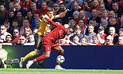 LIVERPOOL, ENGLAND - Sunday, May 12, 2019: Liverpool's Divock Origi during the final FA Premier League match of the season between Liverpool FC and Wolverhampton Wanderers FC at Anfield. (Pic by David Rawcliffe/Propaganda)