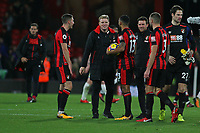 Football - 2017 / 2018 Premier League - AFC Bournemouth vs. Huddersfield Town<br /> <br /> Bournemouth's Manager Eddie Howe with hat trick hero Bournemouth's Callum Wilson at Dean Court (Vitality Stadium) Bournemouth <br /> <br /> COLORSPORT/SHAUN BOGGUST