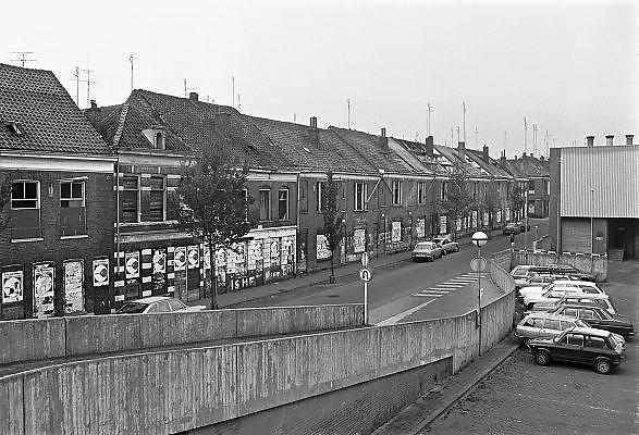 Nederland, Nijmegen, 10-10-1980Serie beelden over het wonen en sociale woningbouw in verschillende wijken van de stad.In het kader van stadsvernieuwing en renovatie van buurten gemaakt. Tweede, 2e,  walstraatFOTO: FLIP FRANSSEN/ HH