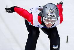 Ema Klinec of Slovenia competes during FIS Continental Cup Ski Jumping Ladies in Ljubno, on January 23, 2011, at K-85 in Ljubno ob Savinji, Slovenia. (Photo By Vid Ponikvar / Sportida.com)
