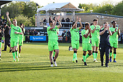 FGR players applaud the fans before kick off during the EFL Sky Bet League 2 second leg Play Off match between Forest Green Rovers and Tranmere Rovers at the New Lawn, Forest Green, United Kingdom on 13 May 2019.