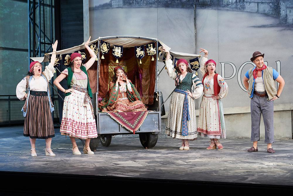 23nd June 2017.Il Turco in Italia, Rossini  at Garsignton Opera. <br /> <br /> Zaidi - Katie Bray<br /> Albazar Jack Swanson