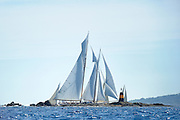 "France Saint - Tropez October 2013, Classic Yachts racing at the Voiles de Saint - Tropez<br /> C,A9,ELENA OF LONDON,""50,8"",GOELETTE AURIQUE/2009,HERRESHOFF"
