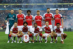 July 15, 2017 - Sydney, New South Wales, Australia - Arsenal team photo before the start of the game. Back row (L to R): David Ospina (Goal Keeper), Granit Xhaka, Ainsley Maitland-Niles, Alex oxlade-Chamberlain, Olivier Giroud, Laurent Koscielny (Captain). Front row (L to R): Aaron Ramsey, Mohamed Elneny, Alexandre Lacazette, Nacho Monreal, Alex Iwobi.FA Cup Champions Arsenal wins 3-1 over Western Sydney Wanderers FC at ANZ Stadium. (Credit Image: © United Images/Pacific Press via ZUMA Wire)