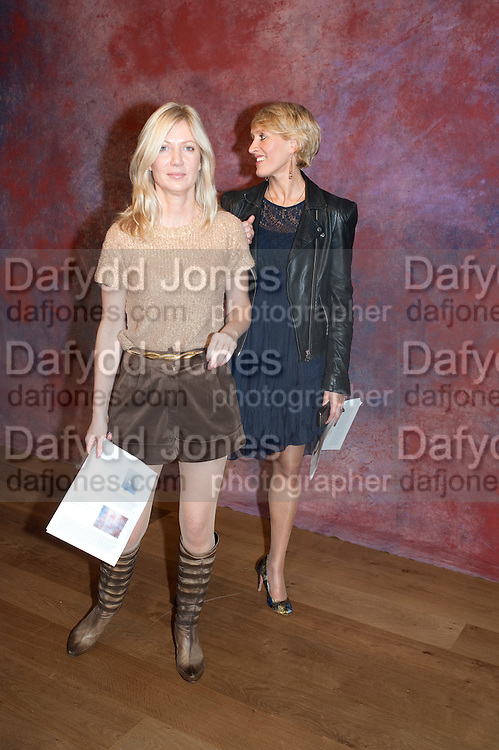 SIGRID WILKINSON;  ISABELLA MACPHERSON;, Reception of the Silent Auction for the South London Gallery.  Hauser and Wirth. Savile Row. London. 13 October 2011. <br /> <br />  , -DO NOT ARCHIVE-© Copyright Photograph by Dafydd Jones. 248 Clapham Rd. London SW9 0PZ. Tel 0207 820 0771. www.dafjones.com.