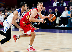 Kostas Sloukas of Greece vs Dmitry Khvostov of Russia during basketball match between National Teams of Greece and Russia at Day 14 in Round of 16 of the FIBA EuroBasket 2017 at Sinan Erdem Dome in Istanbul, Turkey on September 13, 2017. Photo by Vid Ponikvar / Sportida