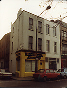 December 1983 amateur photos of Old Dublin WITH Store St Doorway, Shops, Crampton Building, Healys Shop, Fleet St, Lamp Bracket, Townsend St School, D'Olier St, Molesworth St, Tara St Baths and Fire Station, Mulligans Poolbeg St, Wellington Quay,