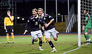 Neil McGregor celebrates his goal - Dundee v Livingston, IRN BRU Scottish Football League, First Division at Dens Park - ..© David Young - .5 Foundry Place - .Monifieth - .Angus - .DD5 4BB - .Tel: 07765 252616 - .email: davidyoungphoto@gmail.com.web: www.davidyoungphoto.co.uk