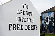 Mural depicting Bernadette Devlin, Derry, Northern Ireland