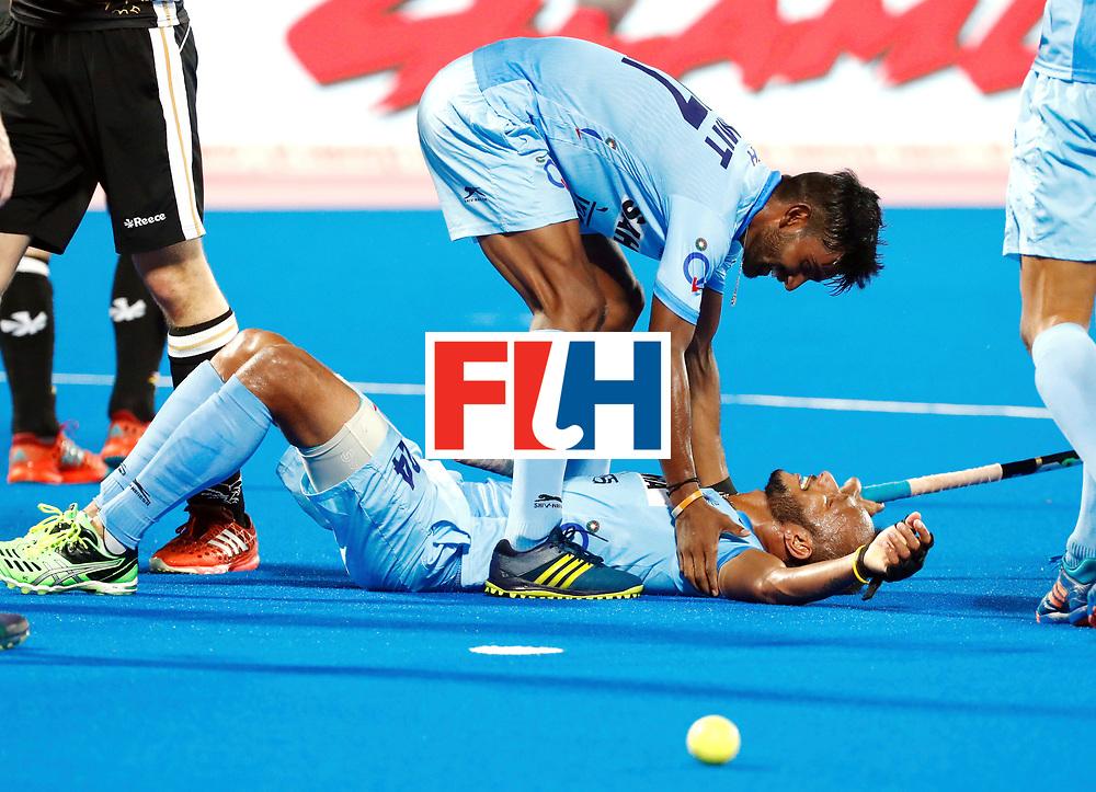 Odisha Men's Hockey World League Final Bhubaneswar 2017<br /> Match id:21<br /> India v Germany<br /> Foto: Sunil Sowmarpet (Ind) scored 1-0<br /> WORLDSPORTPICS COPYRIGHT KOEN SUYK