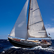 Zeevonk racing in the Grenada Classic Yacht Regatta.