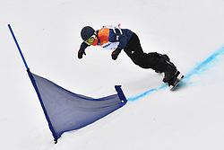 BARNES-MILLER James GBR competing in ParaSnowboard, Snowboard Banked Slalom at  the PyeongChang2018 Winter Paralympic Games, South Korea.
