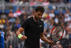 June 24, 2017 - London, United Kingdom - Grigor Dimitrov of Bulgaria plays in the semi final of AEGON Championships at Queen's Club, London, on June 24, 2017. (Credit Image: © Alberto Pezzali/NurPhoto via ZUMA Press)