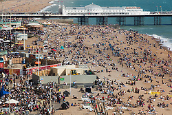 Brighton, UK. Panoramic shots of Brighton Beach as the city's newest attraction, I360 opens officially to the public. Photo Credit: Hugo Michiels