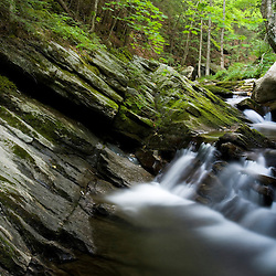 Cobb Brook in Vermont's Jamaica State Park.  Jamaica, Vermont.  West River tributary.