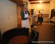 Earl Jones cooks at the Mason's annual stew at the O.D. Smith Lodge in Oxford, Miss. on Friday, February 26, 2010.