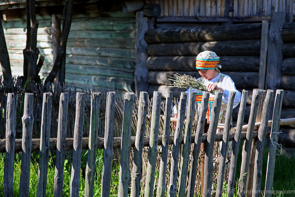 Europe, Russia, Suzdal. Peasant Woman at the Museum of Wooden Architecture and Peasant Life.