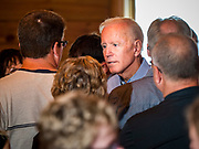 "16 JULY 2019 - MANNING, IOWA: Former Vice President JOE BIDEN talks to voters on the ""rope line"" after a campaign event in western Iowa. Vice President Biden spoke to a crowd of about 250 people in Manning Tuesday morning. Biden is running to be the Democratic nominee for President in 2020. Iowa holds the first selection event of the 2020 election cycle. The Iowa Caucuses are on February 3, 2020.       PHOTO BY JACK KURTZ"