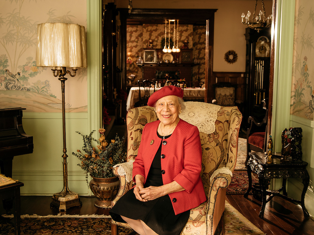 Therrell Smith at her home in Logan Circle, Washington DC.
