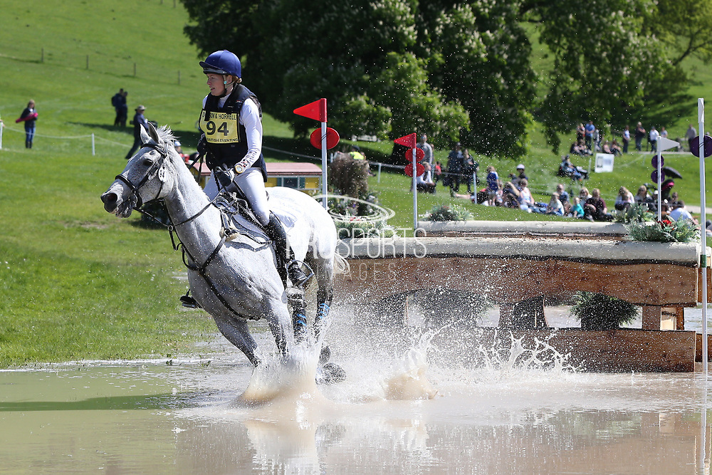 Sarah Pickard on Polo Striker during the International Horse Trials at Chatsworth, Bakewell, United Kingdom on 13 May 2018. Picture by George Franks.