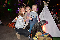 CATHERINE CADBURY and her daughters OLIVIA (L) and LEONORA at Never Land Children's Party at the Bulgari Hotel, 171 Knightsbridge, London on 26th April 2016.