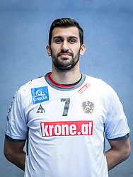 14.01.2017, BSFZ Südstadt, Maria Enzersdorf, AUT, ÖHB, Fototermin Herren Nationalteam, im Bild Janko Bozovic (AUT) // during a Portrait Photoshoot of the Austrian men' s handball National Team at the BSFZ Südstadt, Maria Enzersdorf, Austria on 2017/01/14, EXPA Pictures © 2017, PhotoCredit: Stiegl/ EXPA/ Sebastian Pucher