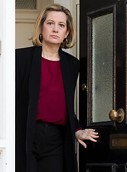 © Licensed to London News Pictures. 01/04/2019. London, UK.  Work and Pensions Secretary, Amber Rudd leaving her London home this morning. A number of remain supporting ministers are urging Prime Minister, Theresa May to accept a customs union with the EU as part of the Brexit deal. Photo credit: Vickie Flores/LNP