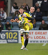 Dundee's James McPake and St Mirren's Kenny McLean - Dundee v St Mirren, SPFL Premiership at <br /> Dens Park<br /> <br />  - &copy; David Young - www.davidyoungphoto.co.uk - email: davidyoungphoto@gmail.com
