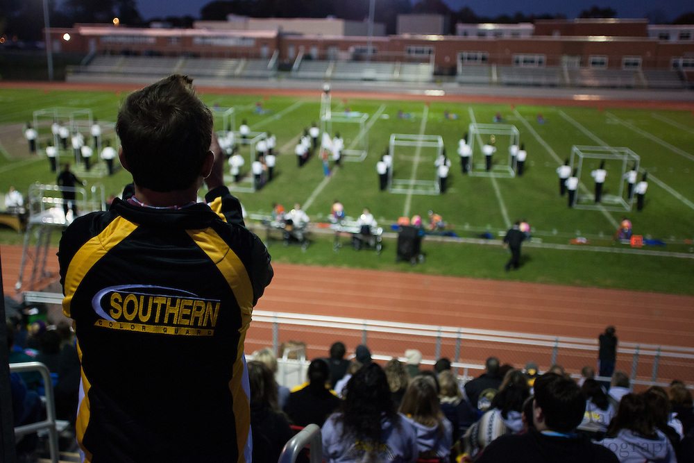 Southern Regional High School's marching band performs at the South Jersey Chapter Championships held at Clearview High School on Sunday October 21, 2012. (photo / Mat Boyle)