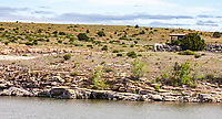 The Clayton Lake Tracksite is located on the northeast side of the dam.  Clayton Lake State Park, New Mexico.