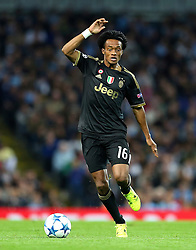 Juan Cuadrado of Juventus during the UEFA Champions League group stage match between Manchester City and Juventus at the Etihad Stadium - Mandatory byline: Matt McNulty/JMP - 07966386802 - 15/09/2015 - FOOTBALL - Etihad Stadium -Manchester,England - Manchester City v Juventus - UEFA Champions League - Group D