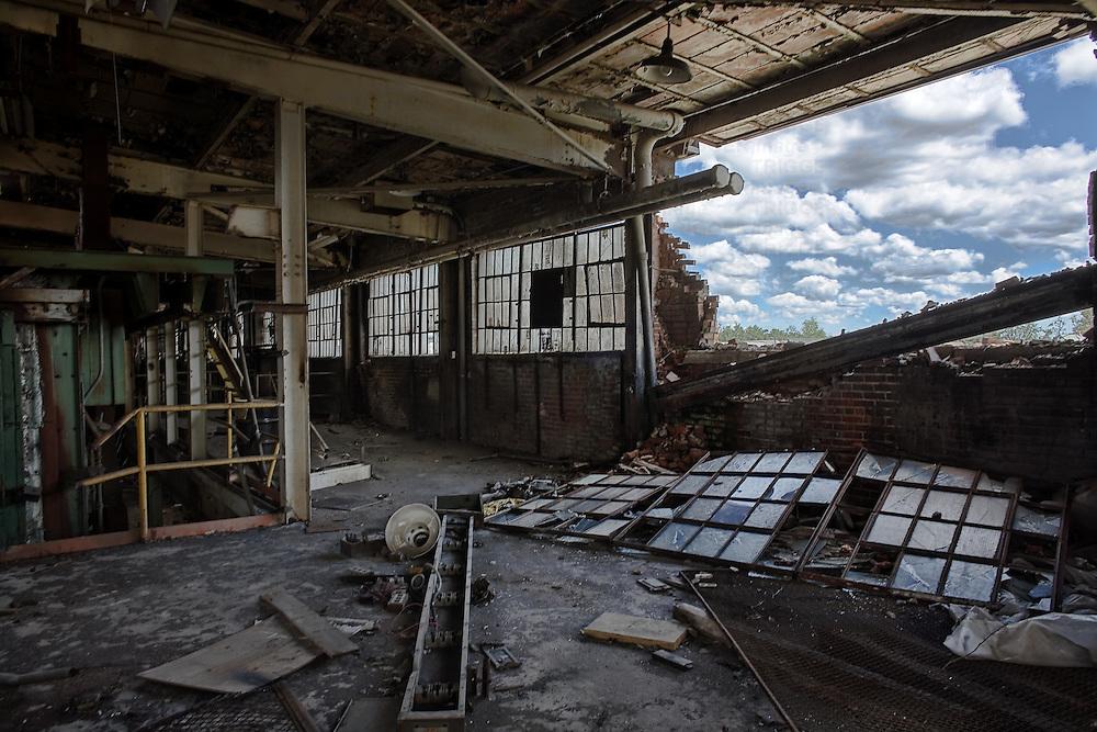 A derelict building