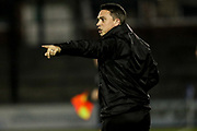 Forest Green Rovers academy manager Scott Bartlett issues instructions during the The FA Youth Cup match between Bristol Rovers and Forest Green Rovers at the Memorial Stadium, Bristol, England on 2 November 2017. Photo by Shane Healey.