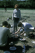 No fancy food, camping in Waldron, Surrey, 1966