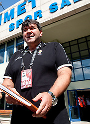 Head coach of Slovenia Memi Becirovic after the Practice session of National team of Slovenia at 2010 FIBA World Championships on September 7, 2010 at Ahmet Comert Spor Salonu in Istanbul, Turkey. (Photo By Vid Ponikvar / Sportida.com)